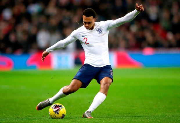 England's Trent Alexander-Arnold. Photo credit Nick Potts/PA Wire.
