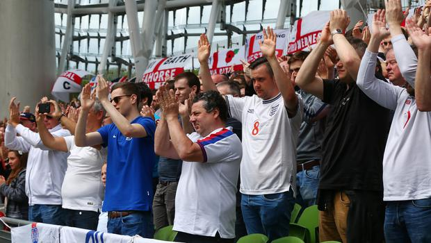 England fans at the Aviva Stadium