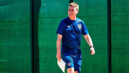 Not spoiled for choice: Ireland manager Stephen Kenny during a training session at PGA Catalunya Resort in Girona, Spain during the week. Photo: Pedro Salado/Sportsfile