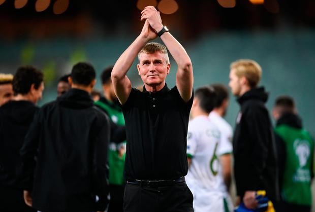 Ireland manager Stephen Kenny after his side's victory in the World Cup 2022 qualifier Azerbaijan