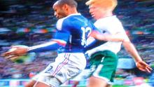 The now infamous handball by Thierry Henry, which cost Ireland a place in the 2010 World Cup finals