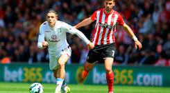 Jack Grealish gets away from Shane Long at St Mary's Stadium