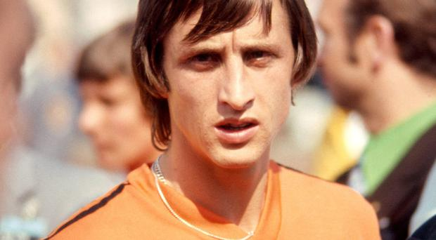 Johan Cruyff at the World Cup in West Germany, 1974 (Getty)