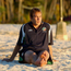 Jason McAteer relaxes on the beach in Saipan prior to the 2002 World Cup in South Korea and Japan. Photos: David Maher