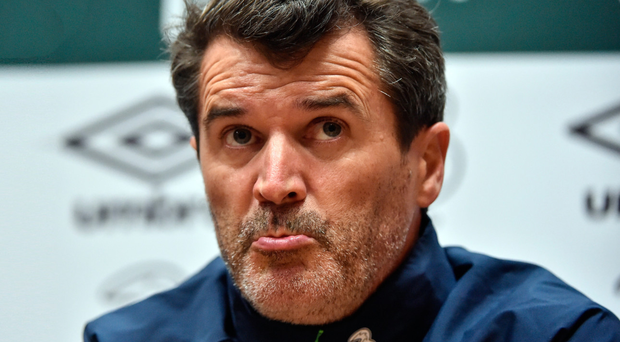 Ireland assistant manager Roy Keane speaking at Abbotstown Photo: David Maher/Sportsfile