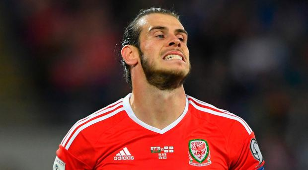 Gareth Bale shows his frustration as Wales are held by Georgia in Cardiff Picture: Getty