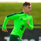 Manchester United's Waterford native Lee O'Connor during Ireland training yesterday. Photo: Stephen McCarthy/Sportsfile