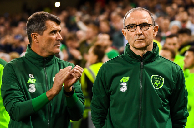 Martin O'Neill with Roy Keane during their days on the Ireland sideline. Photo: Sportsfile