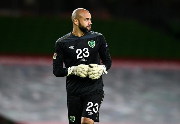 Ireland goalkeeper Darren Randolph is set to miss the opening World Cup qualifiers. Image credit: Sportsfile.