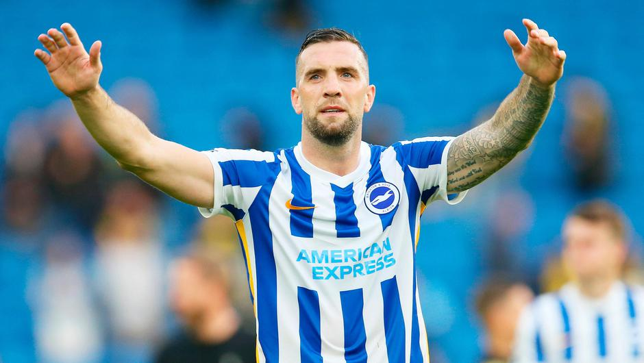 Brighton and Ireland's Shane Duffy celebrates after his side's victory over Watford in the Premier League. Photo: Steve Bardens/Getty Images