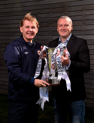 Liam Buckley (left) and Tommy Dunne will both be hoping to get their hands on the EA Sports Cup on Saturday
