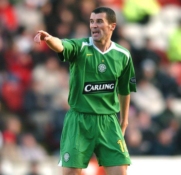 Roy Keane, pictured during his playing days at Celtic back in 2006 has been linked with a vacant manager's role at Parkhead. Picture: David Maher/Sportsfile