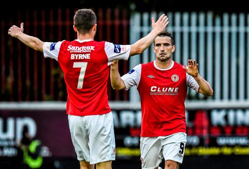 Christy Fagan, right, St Patrick's Athletic