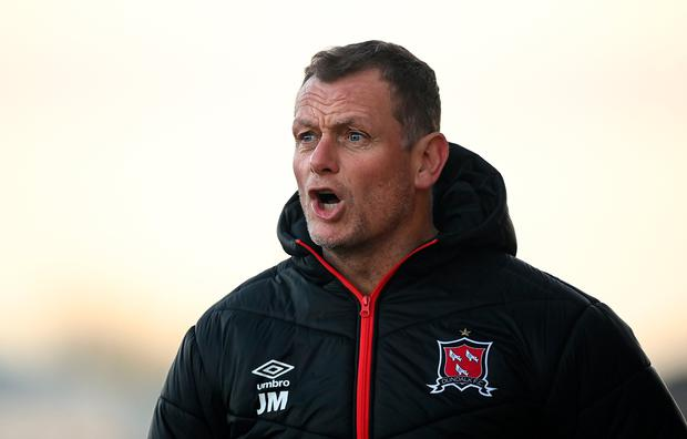 Dundalk sporting director Jim Magilton during the match against Derry City. Photo: Stephen McCarthy/Sportsfile