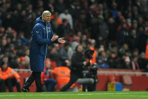 Arsenal manager Arsene Wenger during the FA Cup, Third Round match at the Emirates Stadium, London