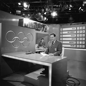 Michael O'Hehir and Bill O'Herlihy present coverage of the Munich Olympics in 1972
