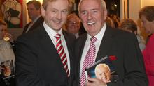 Taoiseach Enda Kenny and Bill O'Herlihy at the launch of the broadcaster's autobiography in 2012
