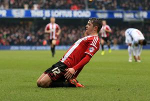 Sheffield United Marc McNulty celebrates scoring his sides first goal of the game against Queens Park Rangers during the FA Cup, Third Round match at Loftus Road, London