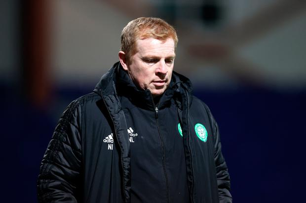 Neil Lennon was refused entry to Rangers' Ibrox stadium for tonight's Europa LEague clash with Lyon. Photo: Jeff Holmes/PA Wire.