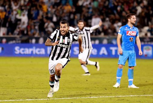Carlos Tevez during his time at Juventus.