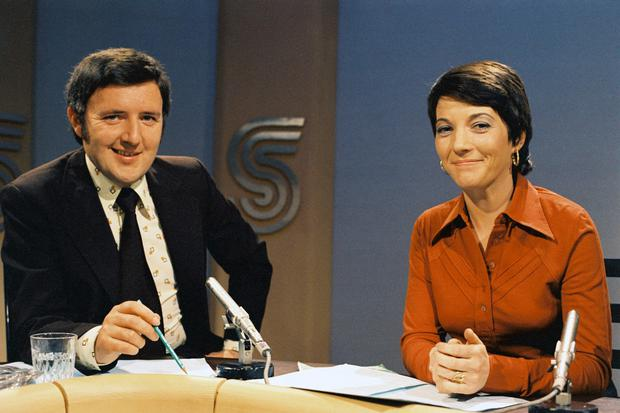 Bill O'Herlihy and Irene Fenton present 'Sports Stadium' in 1974