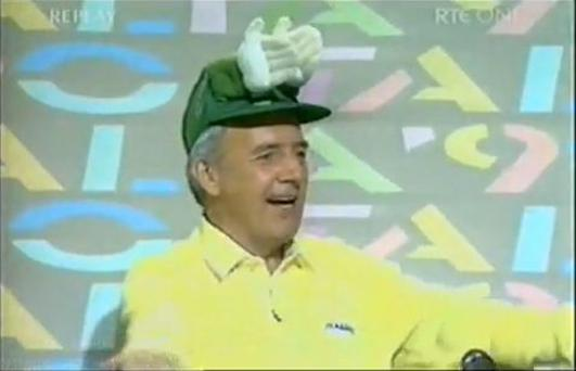 Bill O'Herlihy and his infamous hat during Italia 90