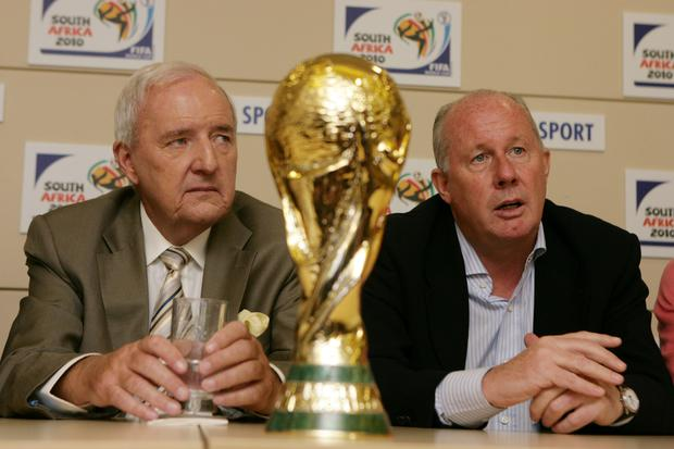 Bill O'Herlihy and Liam Brady