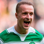 Celtic's Leigh Griffiths celebrates scoring against Rangers. Photo: PA News