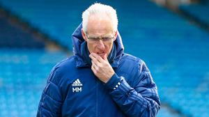 Cardiff City manager Mick McCarthy looks dejected during the Sky Bet Championship defeat to Sheffield Wednesday. Photo credit: Isaac Parkin/PA Wire.