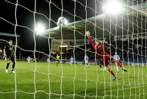Celtic Emilio Izaguirre goal during the Scottish Premierships match at Rugby Park, Kilmarnock
