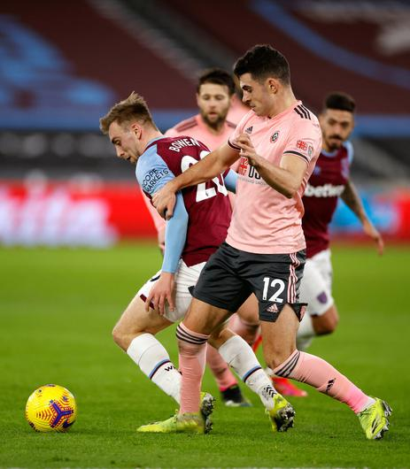 Jarrod Bown (left) hopes West Ham can gain revenge on Manchester United in the League Cup. Photo: PA