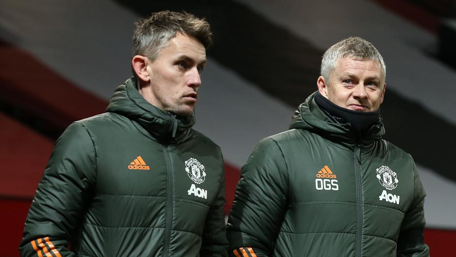 Kieran McKenna with Ole Gunnar Solskjaer. Photo: Matthew Peters/Getty Images