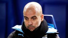 Pep Guardiola's Man City are in derby action today. Photo: PA