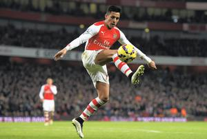 Arsenal's outstanding player of the season Alexis Sanchez has scored 14 of his 18 goals at home so far