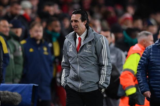 Pay-off: Former Arsenal head coach Unai Emery. Photo: Getty Images