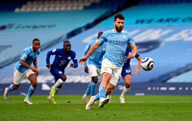 Sergio Aguero may have missed a penalty, but a sub-strength City side still showed they can cause Chelsea defensive problems. Photo:PA