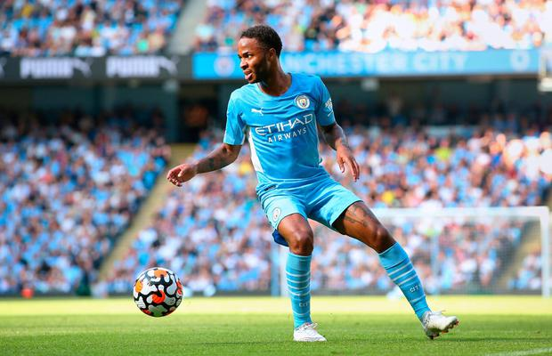 Manchester City's Raheem Sterling. Photo: by Alex Livesey/Getty Images