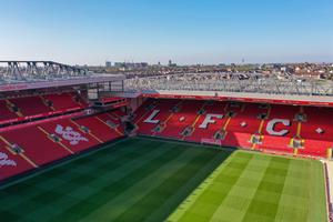 Like all Premier League grounds, Anfield remains closed to football. Last weekend, it had been scheduled to host Liverpool's final home game of the Premier League season