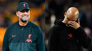 Jurgen Klopp and Pep Guardiola do battle again this weekend. Photo: PA Wire
