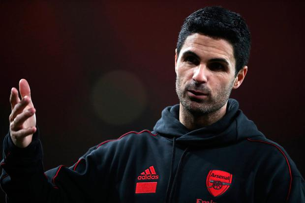 Arsenal manager Mikel Arteta: Under pressure to reach Europa League decider. Photo: PA Wire