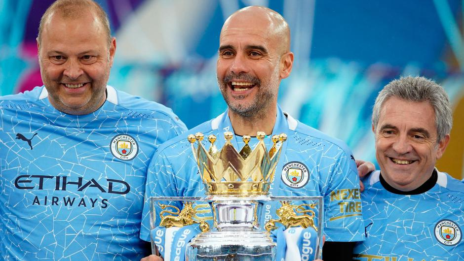 Pep Guardiola and Manchester City's first game of the new Premier League season will be against Spurs. Photo: PA Wire