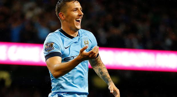 Manchester City's Stevan Jovetic