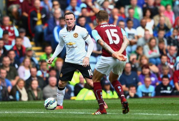 Wayne Rooney of Manchester United on the ball