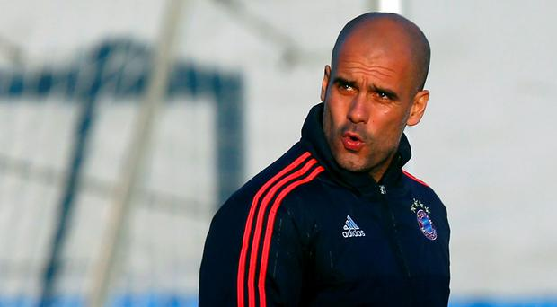 Munich coach Pep Guardiola