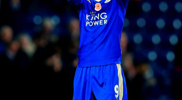 Jamie Vardy will be hoping to score in the 11th game in a row