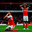 Alex Oxlade-Chamberlain of Arsenal reacts to having a goal effort disallowed during the Premier League match against Middlesbrough at the Emirates Stadium. Photo: Getty