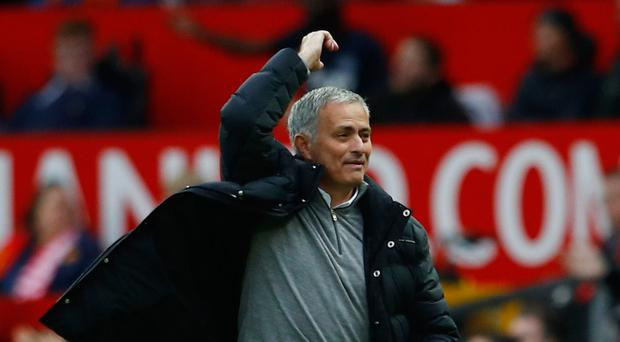 Jose Mourinho shows his frustration. Photo: Reuters