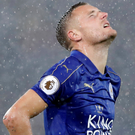Jamie Vardy's statistics in the league this season do not make for good reading. Photo: Reuters