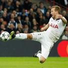 Tottenham Hotspur's Harry Kane shoots at goal against CSKA Moscow. Photo: Reuters