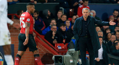 Valencia trouble: Jose Mourinho and Antonio Valencia speak during Manchester United's draw against Valencia. Photo: Getty Images